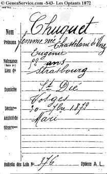 43C014-18-016-000Option pour la Nationalite francaise 1872 Eugenie Auguste Chuquet neé Chastelain de Verly - copia