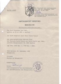Adoption Decree by Herford District Court-Family Court of the child Alexander Wahl by his Mother Husband Mister Ewald Pusich - copia (2)