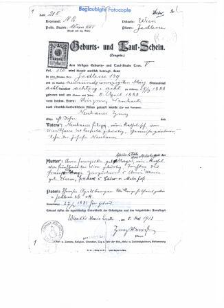 Geburtsurkunde Edith Wahl 022